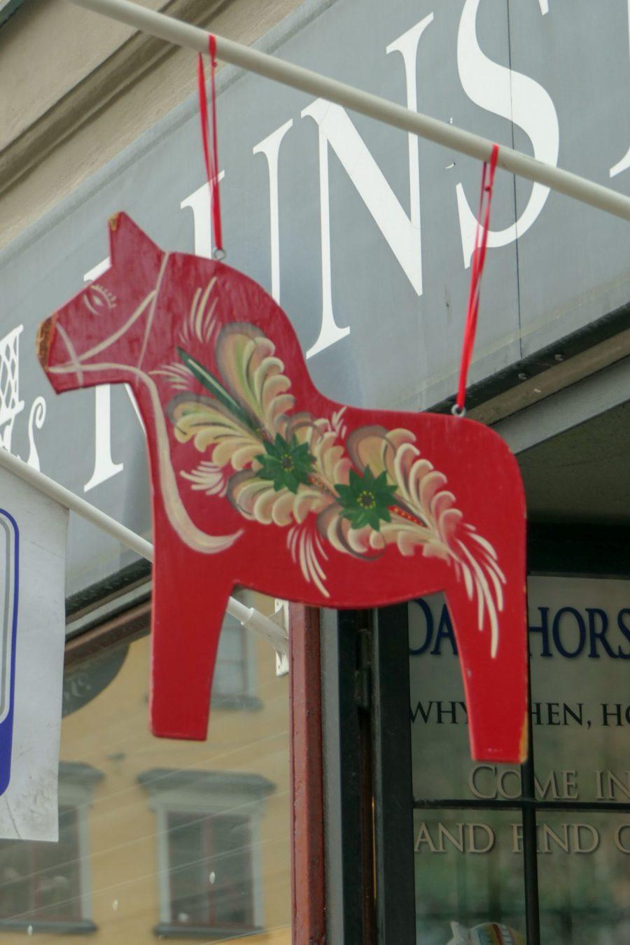 Stockholm Schweden Gamla Stan Stadsholmen Altstadt Pferd