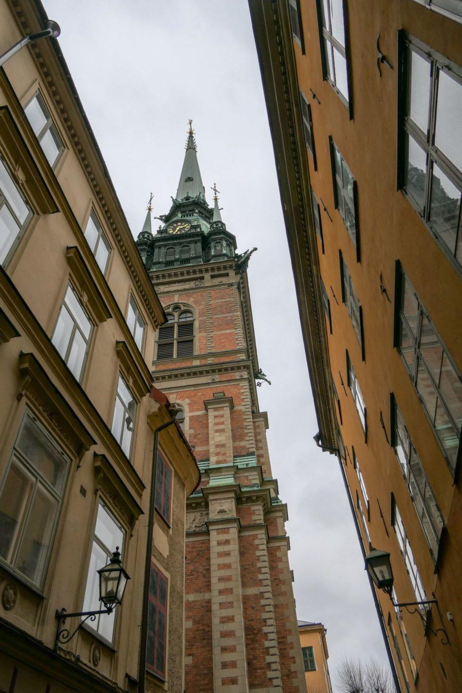 Stockholm Schweden Gamla Stan Stadsholmen Altstadt Kirche