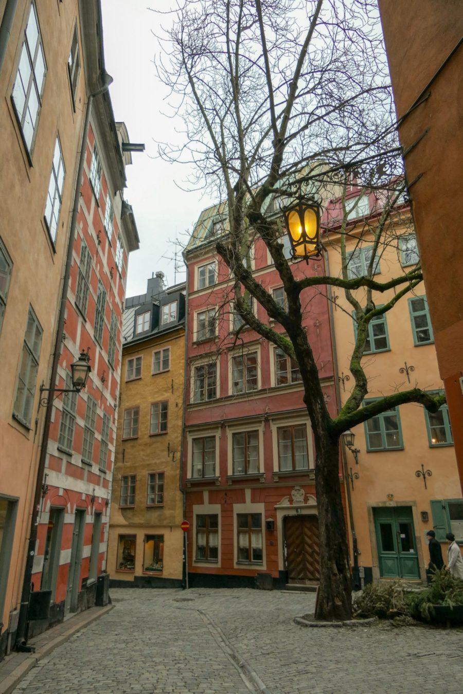 Stockholm Schweden Gamla Stan Stadsholmen Altstadt Gasse Kindstugatan