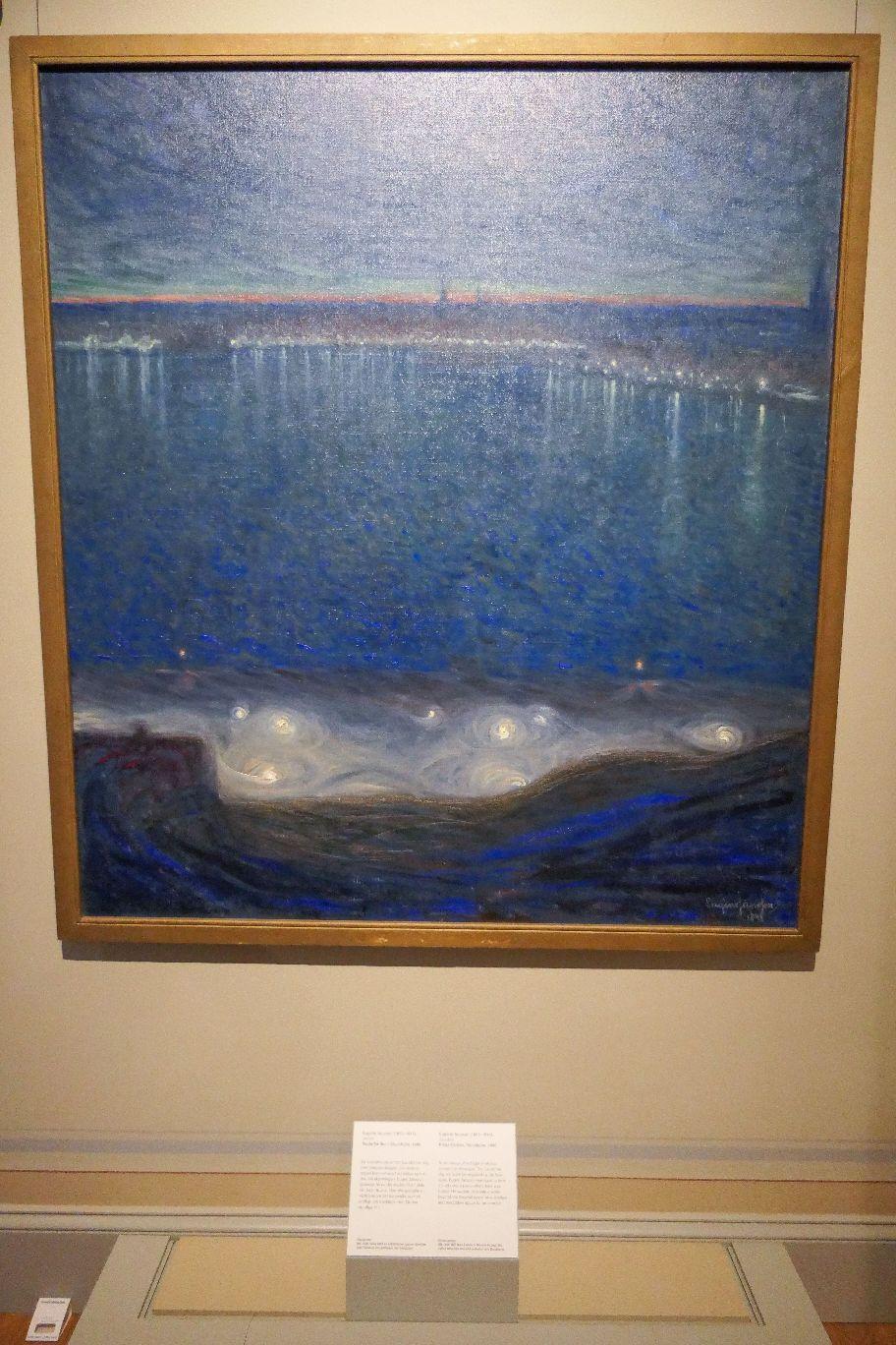 Stockholm Schweden Nationalmuseum Museum Kunst Gemälde Riddarfjärden von Eugène Jansson