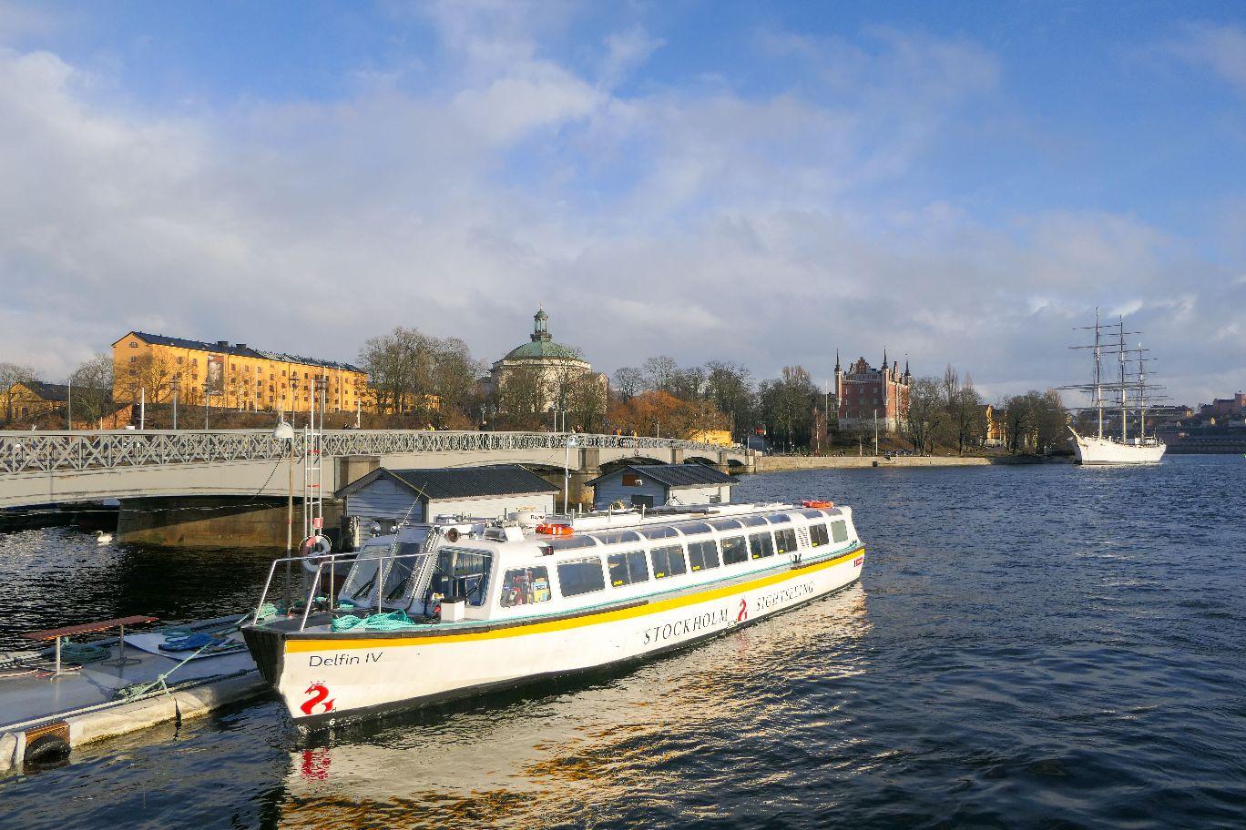 Stockholm Schweden Södra Blasieholmshamnen Skeppsholmsbronn
