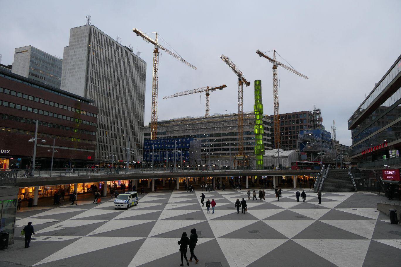 Stockholm Schweden City Sergels Torg Marktplatz