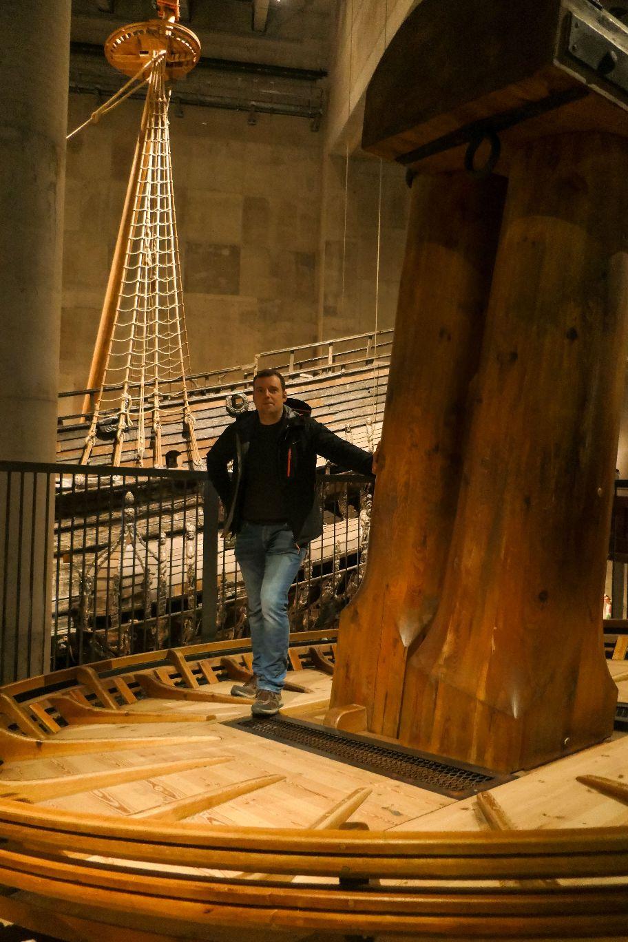 Stockholm Schweden Djurgarden Vasa Museum Schiff Kriegsschiff historisch Mast