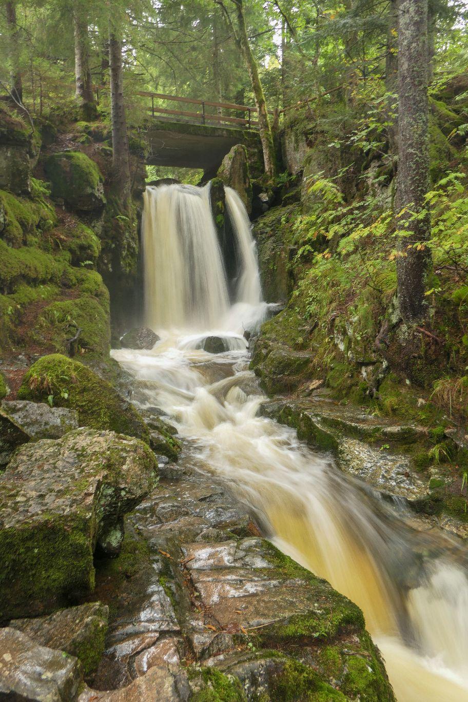 Deutschland Schwarzwald Hochschwarzwald Menzenschwand Menzenschwander Wasserfall Klamm