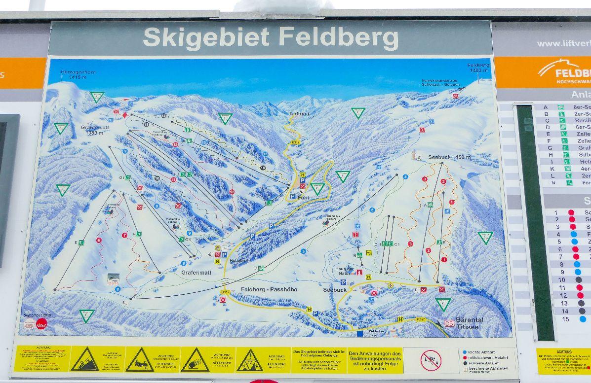 Deutschland Schwarzwald Hochschwarzwald Feldberg Schnee Skigebiet Ski