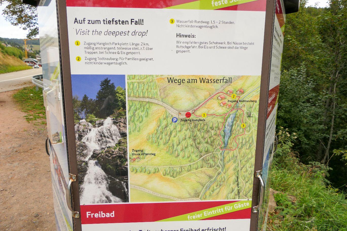 Deutschland Schwarzwald Hochschwarzwald Todtnauberg Todtnauer Wasserfall Wanderweg