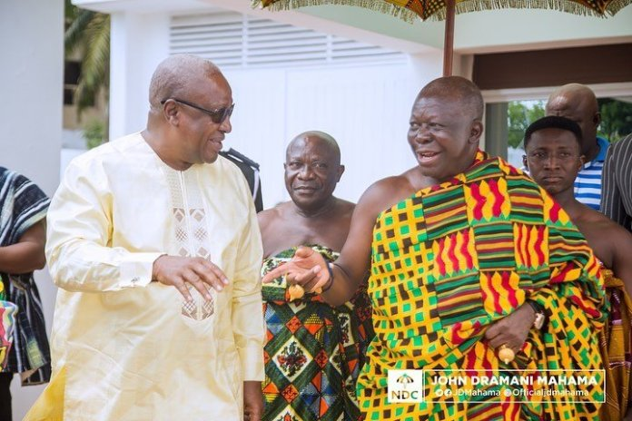 Otumfuo Osei Tutu II calls on John Mahama, defying all odds.