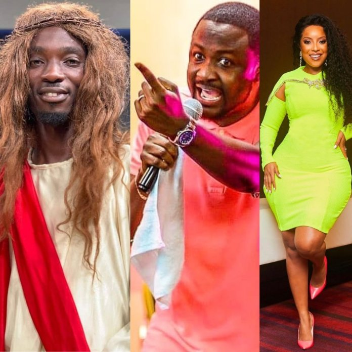 Joselyn Dumas joins Pastor Brian to spit venom on Mmebusem for his blasphemous Jesus character.