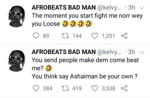 "Kelvyn Boy accuses Stonebwoy of his attack at Ashaiman, ""You dey fear me"""