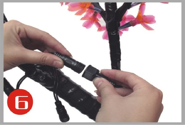 how to install LED cherry tree