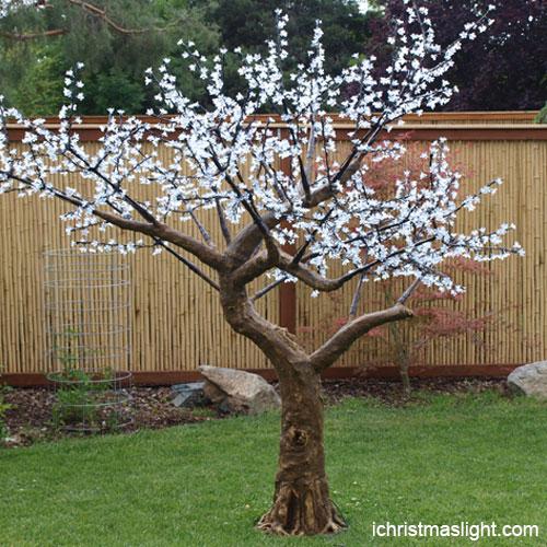 Christmas decor white LED cherry tree