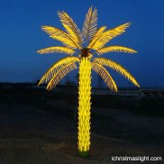 Outdoor LED yellow christmas palm trees