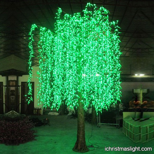 Outdoor Lighted Willow Tree Manufacturer IChristmasLight