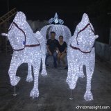 Outdoor Cinderella carriage LED figures
