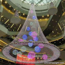 Center hanging mall christmas decorations