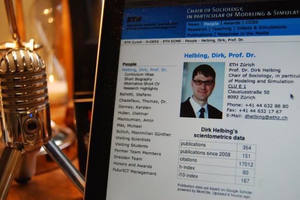ETH-Forscher Dirk Helbing