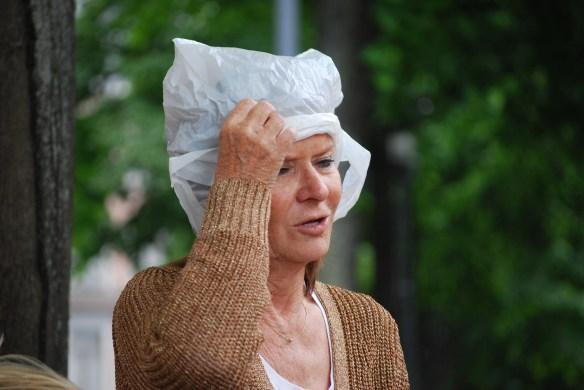 Selbstgemachte Kopfbedeckung
