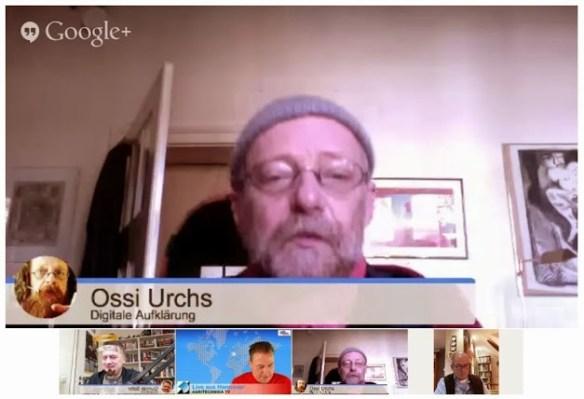 Ossi Urchs und Tim Cole im Test-Hangout