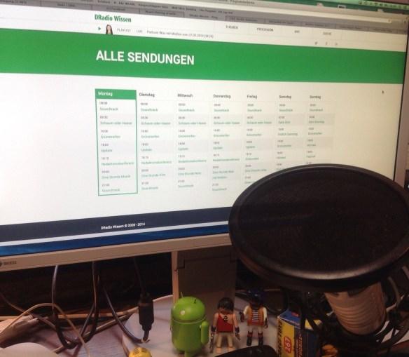 Neues Programm-Schema von Deutschlandradio Wissen