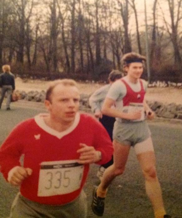 Gunni im Halbmarathon-Konkurrenz-Kampf
