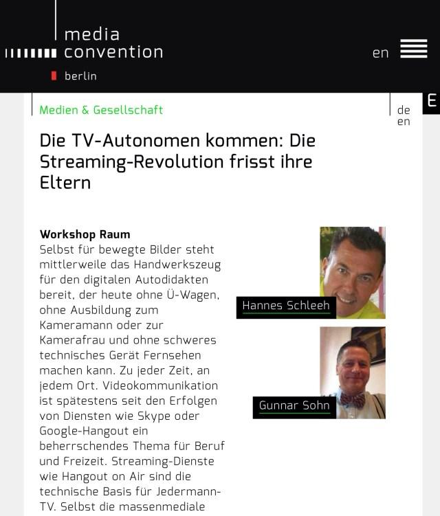 Livestreaming-Workshop in Berlin