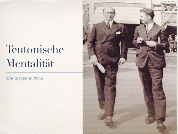 Schumpeter in Bonn