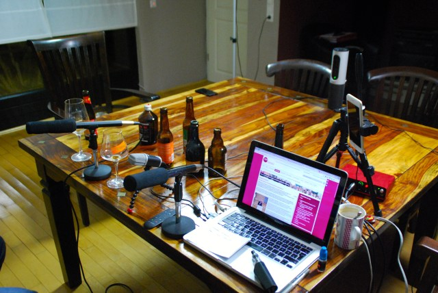 Craft Beer TV-Studio nach dem Test :-)