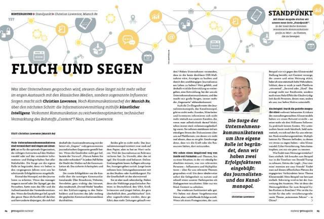 Februar-Thema im PR-Magazin