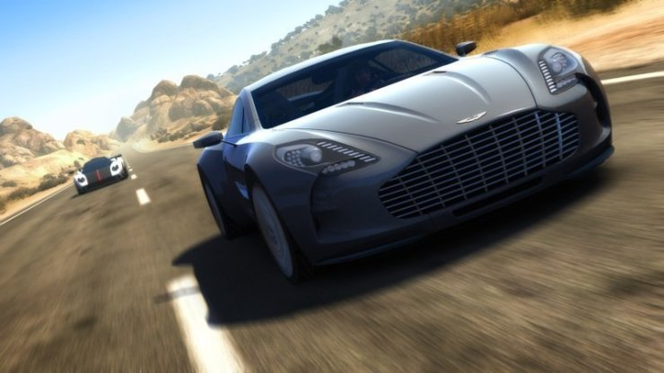 Silberner Aston Martin One-77 in Test Drive Unlimited 2