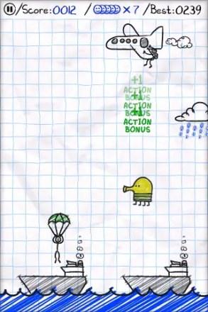 Parachute Panic: Der Doodler aus Doodle Jump mit Gastauftritt