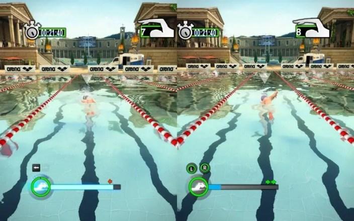 Summer Challenge: Athletics Tournament - Screenshot vom Schwimmen