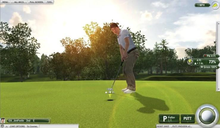 Tiger Woods PGA Tour Online - Putten