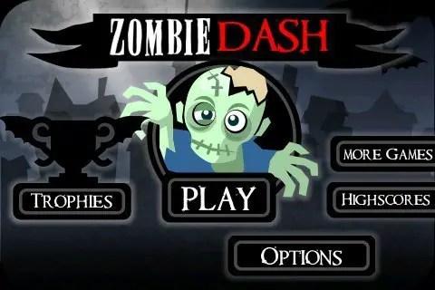 Zombie Dash - Startbildschirm