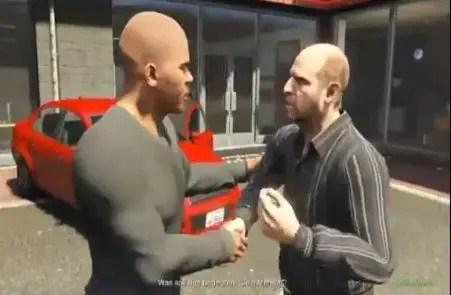 Franklin und ein Autohändler in GTA 5
