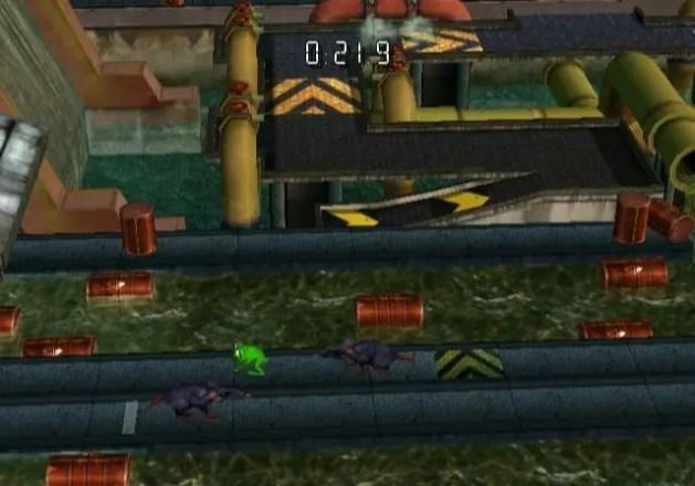 Frogger Returns - WiiWare - Level 3 Abwasserkanal