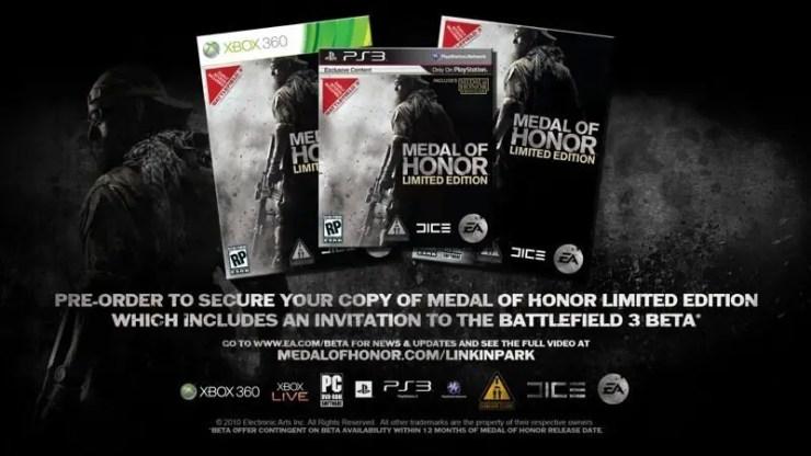 Medal of Honor - Käufer der Tier-1- und Limited Edition erhalten Beta zu BF3