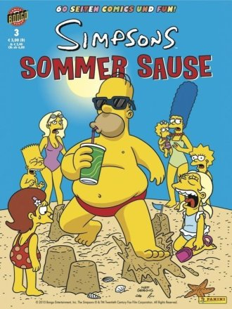 Simpsons Sommer Sause - Cover Ausgabe #3