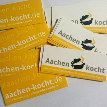 Und noch viel toller: die Visitenkarten von @moo sind gekommen! Für #aachen_kocht bzw. www.aachen-kocht.de. Hach!