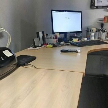 Alles noch so schön ordentlich im Büro.