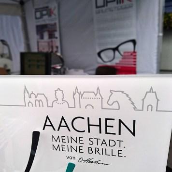 Wie schön, daß der Produzent aus Münster auch einen Aachen-Brillenbügel im Sortiment hat.