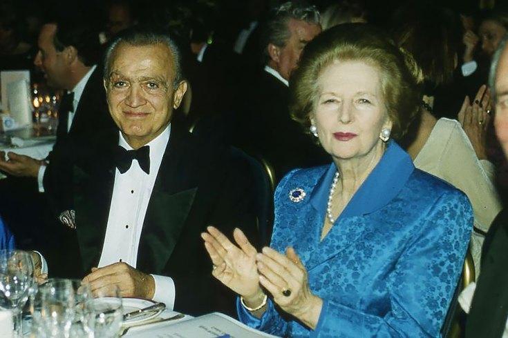 Wafic Saïd et Margaret Thatcher en 1997