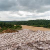 Le glacier de sel de Makola (région du Kouilou) est un résidu de l'exploitation de la potasse par la Compagnie des Potasses du Congo