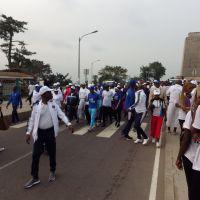 Marche sportive à Brazzaville, en prélude de la 69e session du comité régional de l'OMS