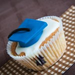Blueberry Graduation Cupcakes