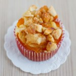 Apricot Muffins with Crunchy Almond Toppping (lactose-free)