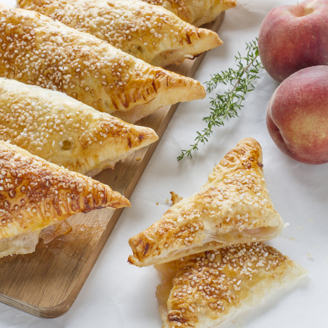 Peach, Thyme and Vanilla Turnovers