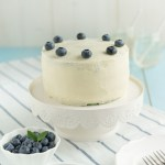 Blaubeer Baby Shower Kuchen