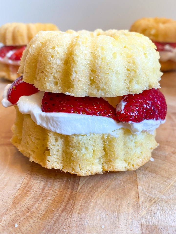 Strawberry Shortcake Bundt Cakes