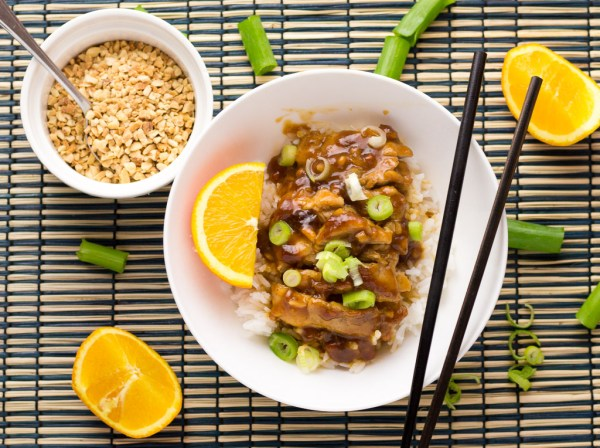 Sticky Thai Orange Peanut Chicken
