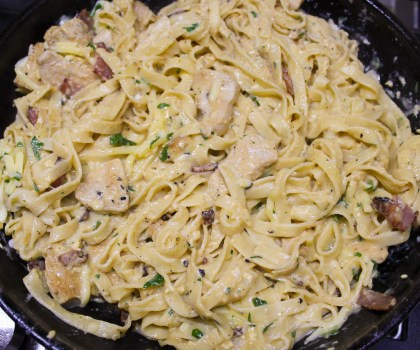 Chicken Fettuccine Carbonara